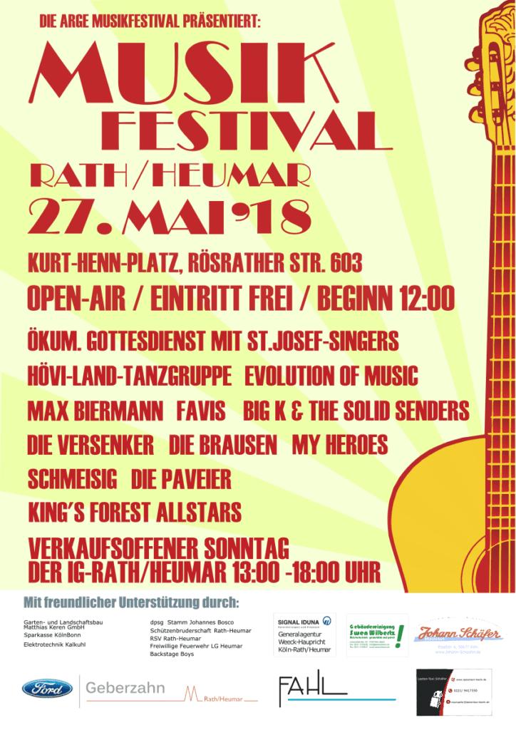 Plakat Musikfestival 2018